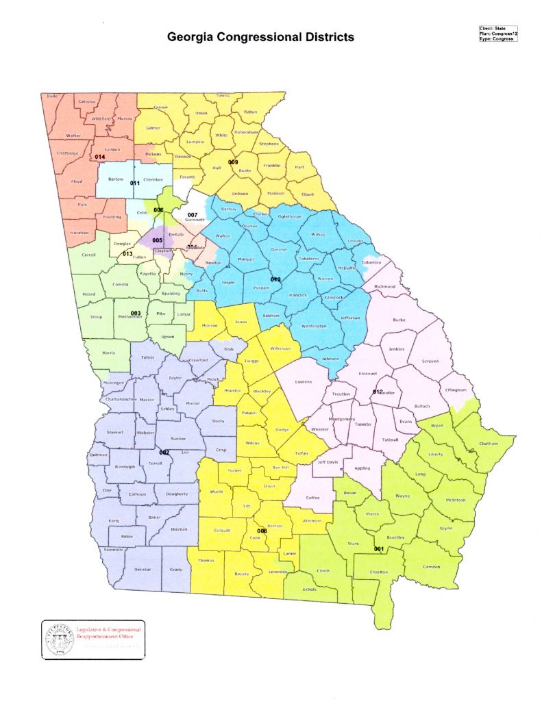 District Information - Georgia map us