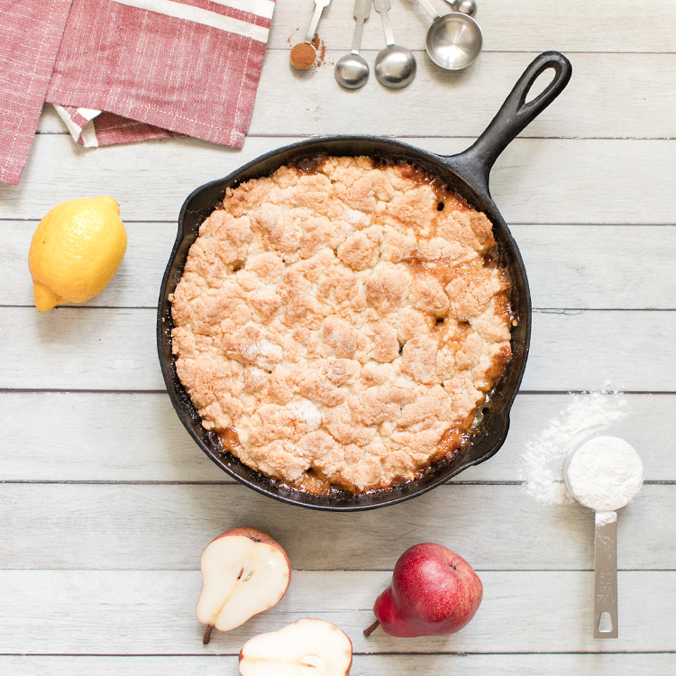 Drop Biscuit Pear Cobbler