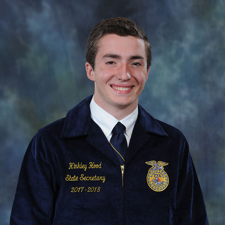 Meet Hinkley Hood, State FFA Secretary