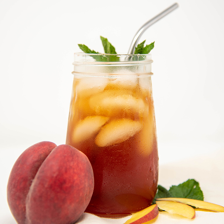 Peach Tea with Mint