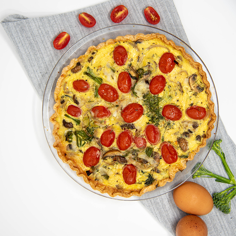 Delectable Vegetable Quiche
