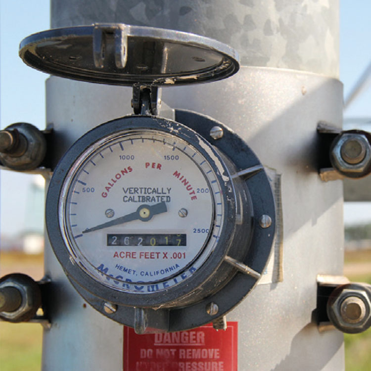 Meter data shows farmers using water responsibly