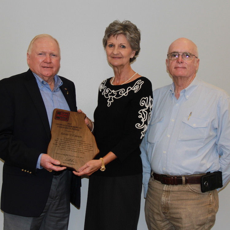 Patsie Cannon receives GFB Commodity Award