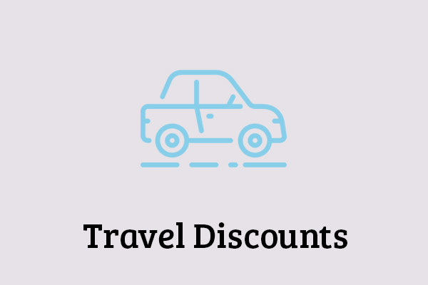 Exclusive discounts on hotels and resorts, as well as rental cars!