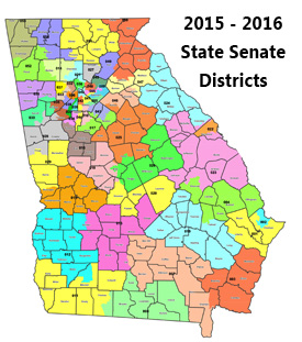 Map Of Georgia Voting Districts.District Information